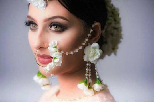 PunjabKesari, फ्लोरल नथ इमेज,फ्लोरल ज्वेलरी डिज़ाइन इमेज,  Floral Nath Design Image