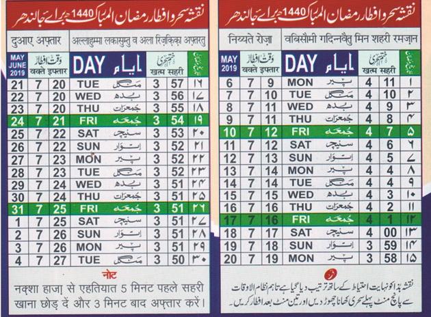 PunjabKesari Ramzan time table