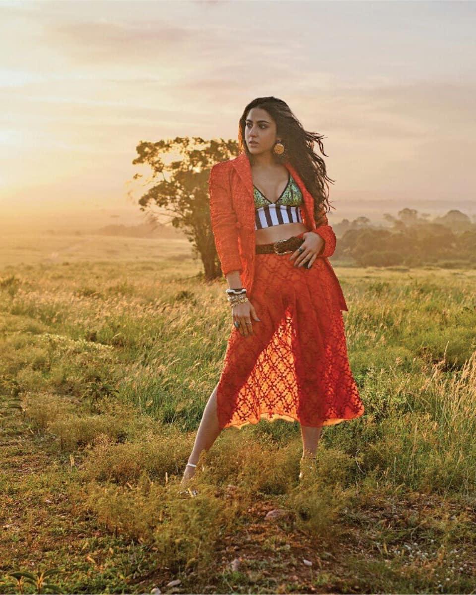 PunjabKesari, Sara Ali Khan, Filmfare Magazine, सारा का बोल्ड फोटोशूट