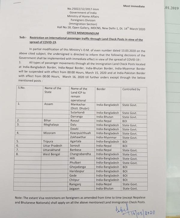 PunjabKesari, fear of coronavirus sri kartarpur corridor closed