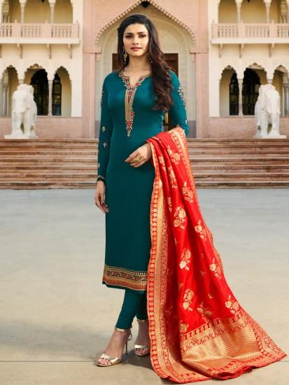 PunjabKesari,प्रिंटेड दुपट्टे इमेज, प्लेन सूट इमेज, printed dupatta image, plain suit image