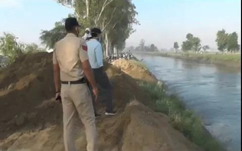 हरियाणाः कोरोना के कहर के बीच करनाल के पास टूटी आवर्धन नहर, कई गांवों में आ  सकती है बाढ़ - haryana news canal broken at karnal and flood situation in  many villages