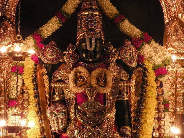 PunjabKesari, Venkateswara temple in Tirumala, Devotees donate 1.11 crore, तिरुमला वेंकटेश्वर मंदिर, तिरुपति