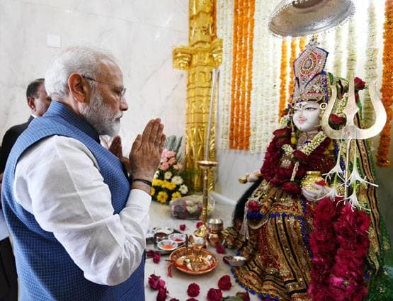 PunjabKesari Black thread PM Modi