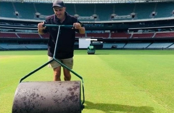 sports news, Cricket news in hindi, Test Series, Ind vs Aus, First test, Edilate, Pitch curator, Damian hog, grass on pitch