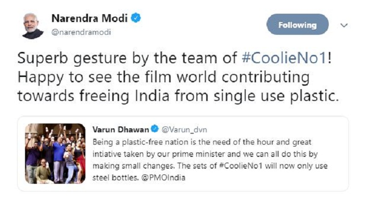 Bollywood Tadka, Modi tweet