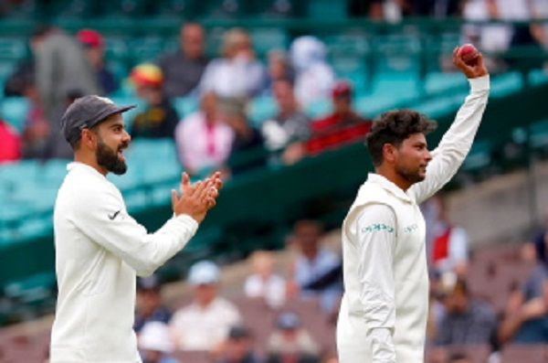 cricket news in hindi, Ind vs Aus, Sydney Test, Kuldeep yadav, 5 wickets, first innings, new records make