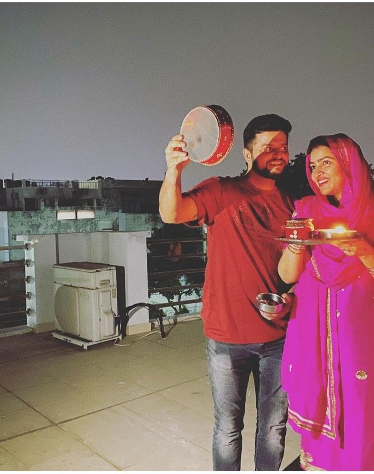 karva chauth, suresh raina image, suresh raina wife, Priyanka Chaudhary