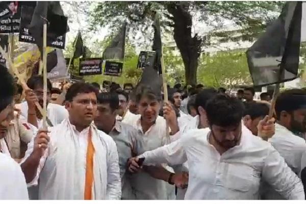 PunjabKesari, twist, bjp, Congress, protest