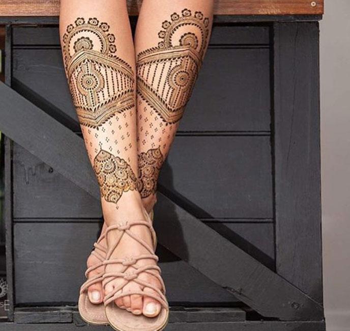 PunjabKesari, Mehndi design, Easy Mehndi design Hand and Foot image, इजी मेहंदी डिजाइन हैंड एंड फुट