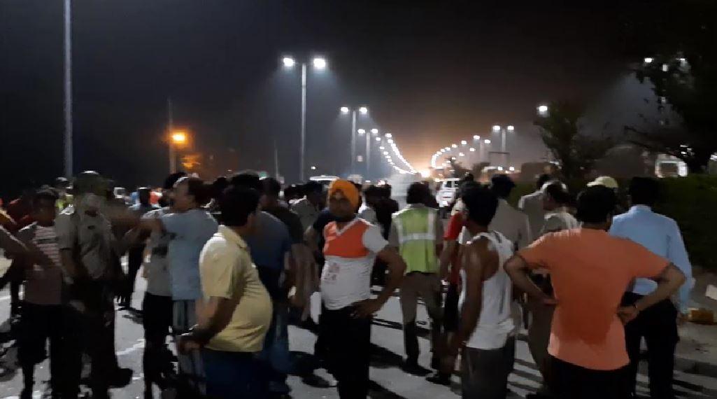 PunjabKesari,haryana hindi news, panipat hindi news, nh, accident, death, hrtc
