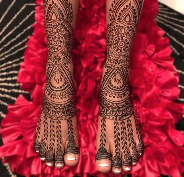 PunjabKesari, Dulhan Mehndi design Image, Bridal Mehndi design Image, ब्राइडल मेहंदी डिजाइन इमेज