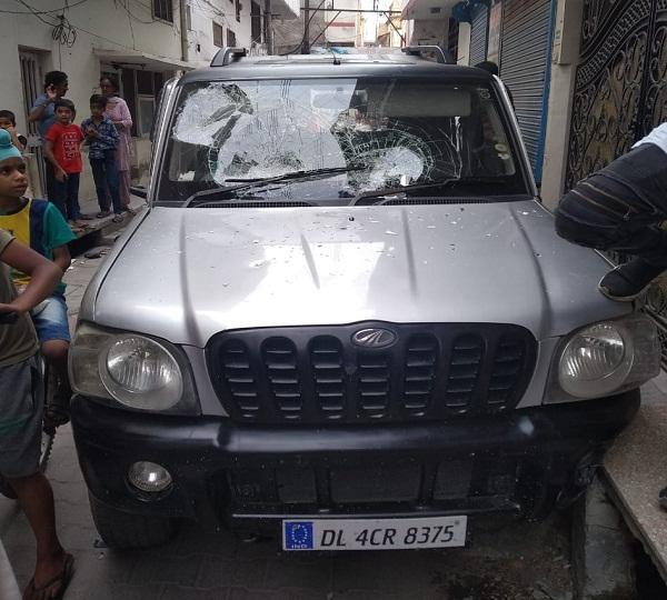 PunjabKesari, The Scorpio driver broke both legs of a woman