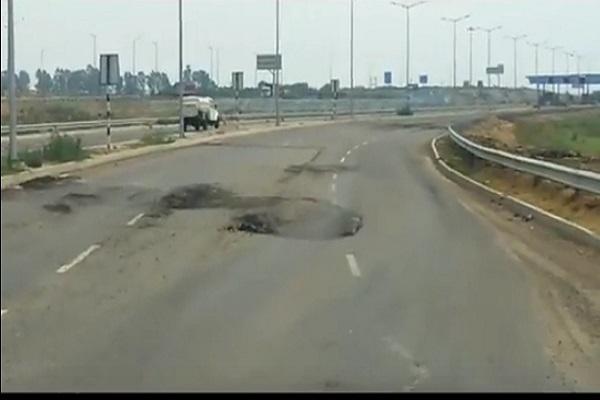 PunjabKesari, KMP, poor, Road, Contractor