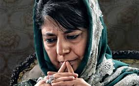 mehbooba trying to save pdp s image
