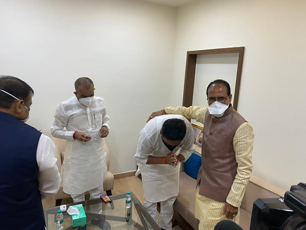 PunjabKesari, Madhya Pradesh, Congress MLA, BJP, By-election, Rahul Singh, Shivraj Singh Chauhan, Kamal Nath
