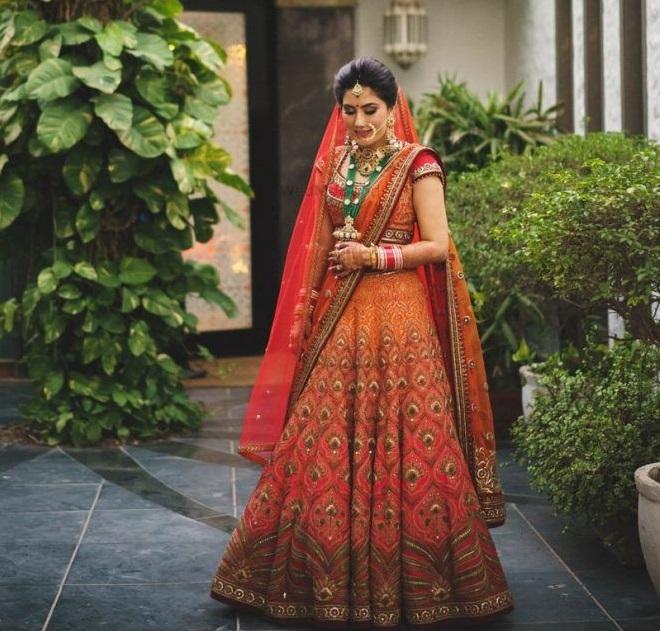 PunjabKesari,Brides reach lenga
