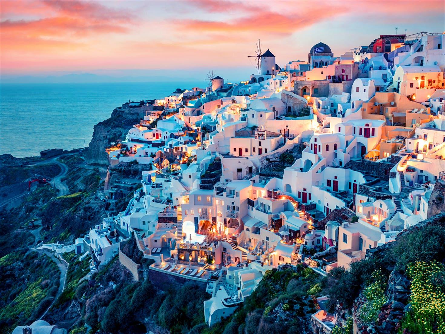PunjabKesari, Santorini, Honeymoon Destinations, Year 2019, Travel Hindi Tips