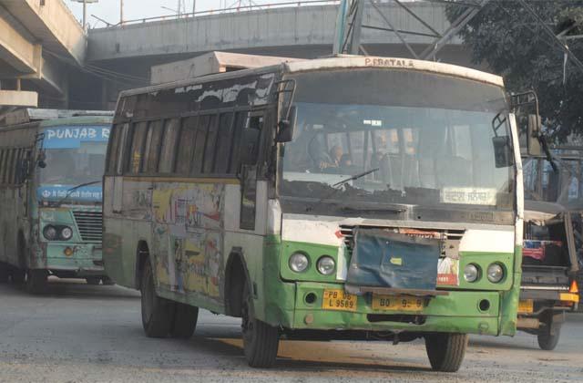 PunjabKesari, fog destroyed business of bus
