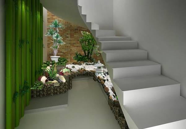 PunjabKesari, Nari, Pebble Garden , Under stairs Space Image