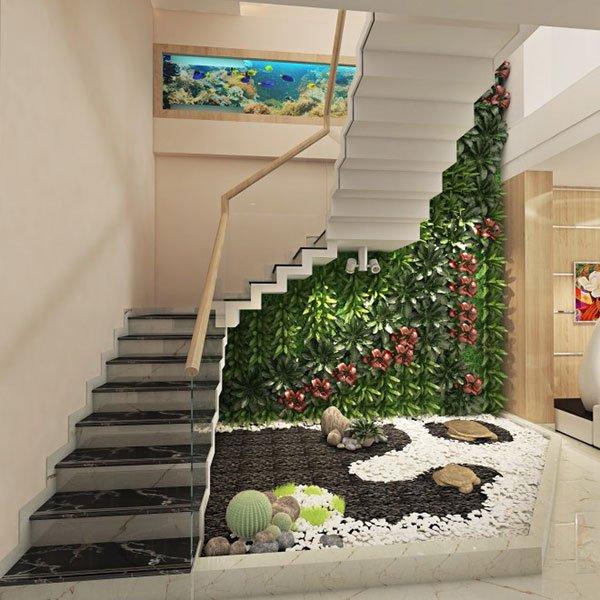 PunjabKesari, Nari, Pebble Garden Image , Under stairs Space Image
