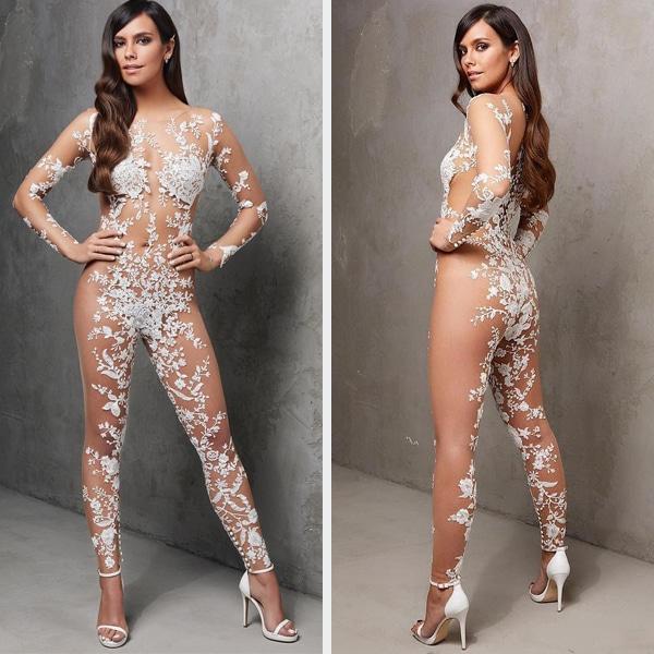 PunjabKesari, Nari, Weird Fashion image, Naked Bridal Jumpsuit Image