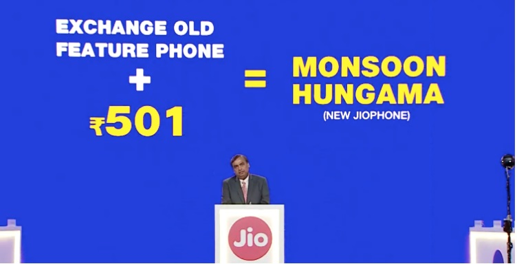 Exchange old feature phone at Rs 501 under Monsoon Hungama offer 2018