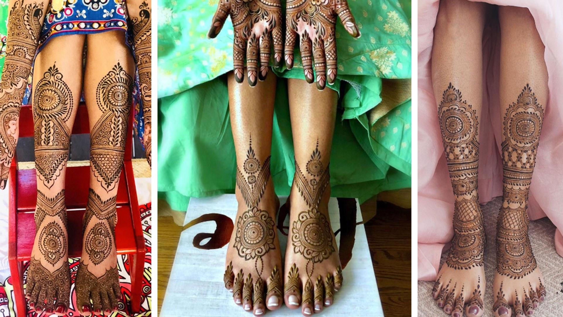 PunjabKesari, Foot Mehndi Design For Dulhan , फुटमेहंदी डिजाइन फॉर दुल्हन