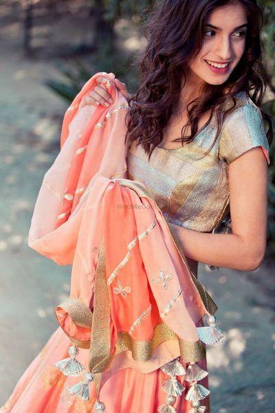 PunjabKesari, Gota Latkan With dupatta Image, Nari, Bridal Fashion