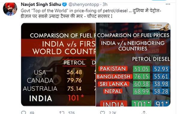 PunjabKesari, Navjot Singh Sidhu Tweets