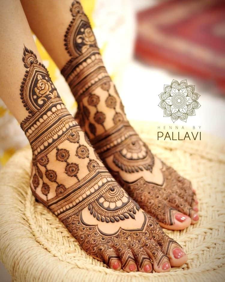 PunjabKesari, Easy Foot Mehndi Design, पैरों की मेहंदी के डिजाइन आसान