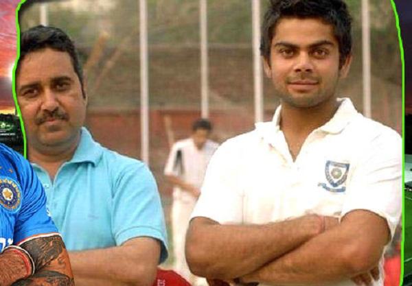 PunjabKesarisports virat Kohli image with cricket coach image