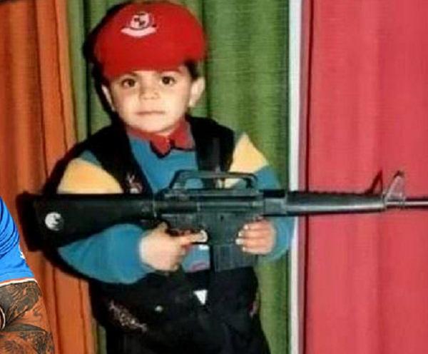 PunjabKesarisports virat Kohli with gun image