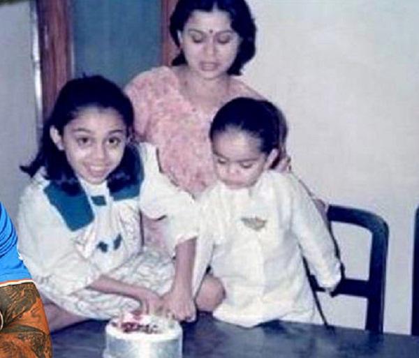 PunjabKesarisports virat Kohli with sister mother image