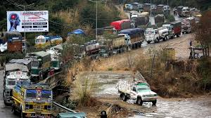 jammu srinagar highway closed for traffic