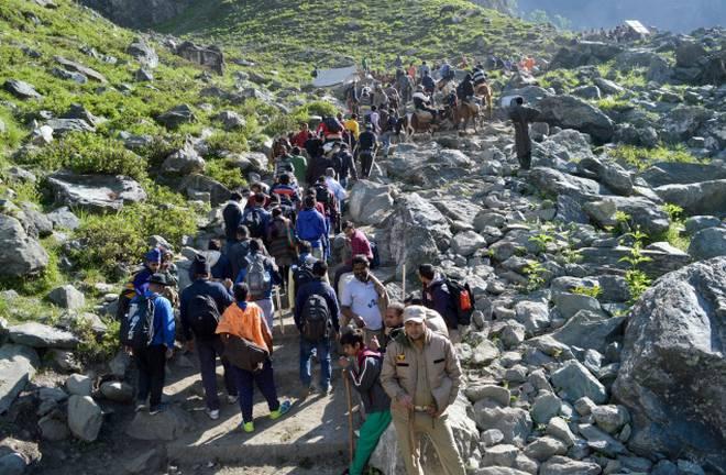 PunjabKesari, हिमशिवलिंग , अमरनाथ, अमरनाथ यात्रा 2019, अमरनाथ यात्रा, Amarnath yatra 2019, Amarnath Cave