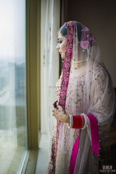 PunjabKesari,Ghoongru dupatta Image, Nari, Bridal Fashion