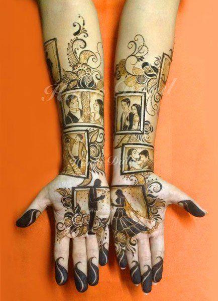 PunjabKesari, Modern Bridal Mehndi Image, मॉडर्न ब्राइडलमेहंदी डिजाइन इमेज