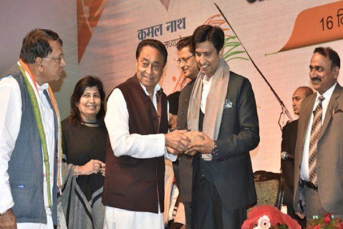 PunjabKesari, Madhya Pradesh News, Bhopal, Victory Day, Dr. Kumar Vishwas, Nobel laureate Kailash Satyarthi, Kavi Sammelan, Congress, Kamal Nath government, CM Kamal Nath