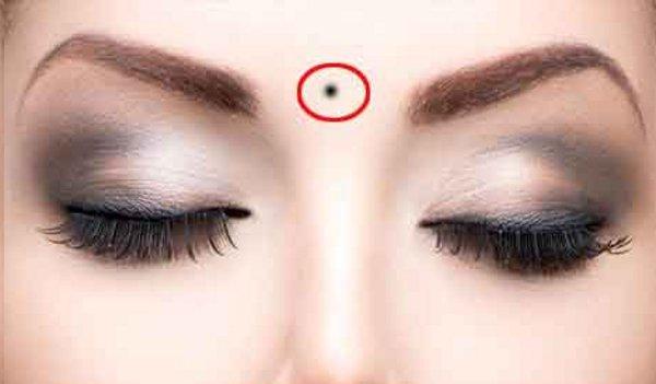 PunjabKesari, kundli tv, forehead mole image