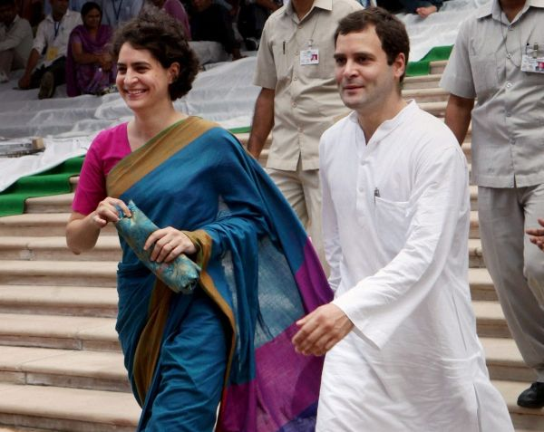 rahul priyanka rally canceled