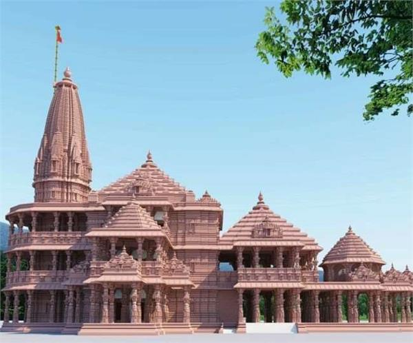 ram temple construction grand temple will be made of red and pink stone