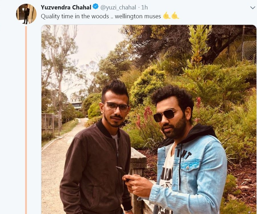 Chahal And Rohit Sharma