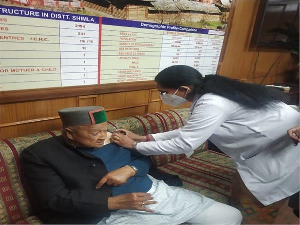 covid vaccine to veerbhadar singh