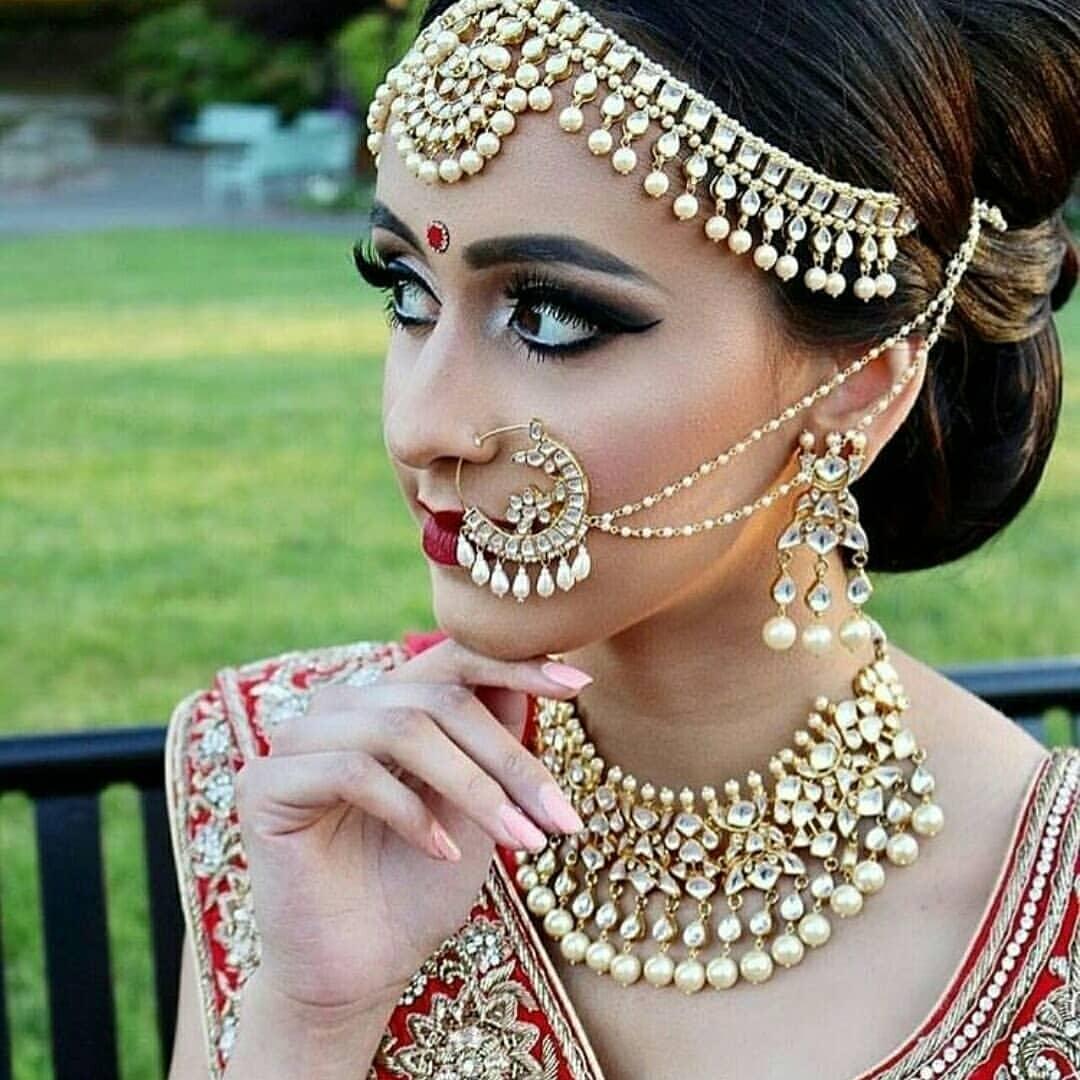 PunjabKesari, Bridal Nose Ring Designs Image, ब्राइडल नोज रिंग डिज़ाइन इमेज