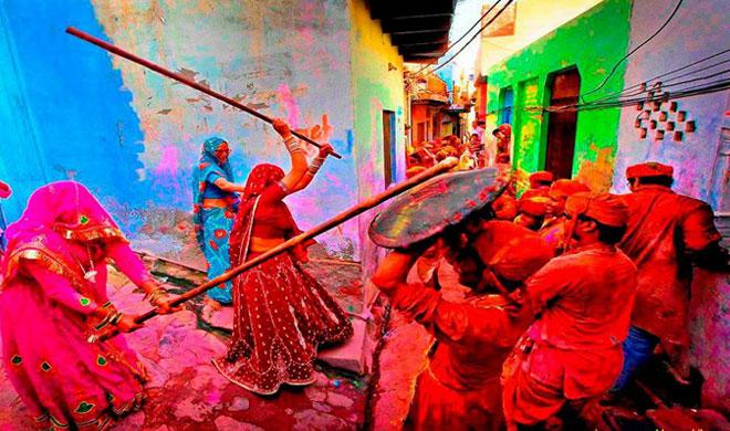 PunjabKesari, Holi, Holi 2019, बरसाना की होली, Barsana Holi