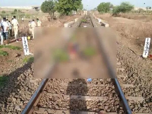 PunjabKesari, Madhya Pradesh, Shahdol, Umaria, Jabalpur, Aurangabad railway accident, dead bodies of workers