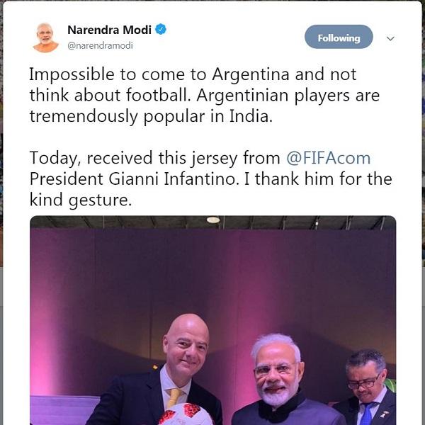 PM Modi And FIFA President