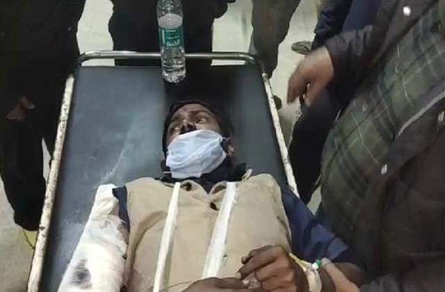 PunjabKesari, Killer attack on the national head of Sri Ram Bhakt sena
