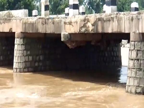 PunjabKesari, Madhya Pradesh, Chhatarpur, river, fast flow, bridge shed, risk, administration